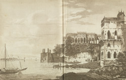 A View of the Ruins of a Palace at Gazipoor on the River Ganges(019XZZ000000744U00007000)